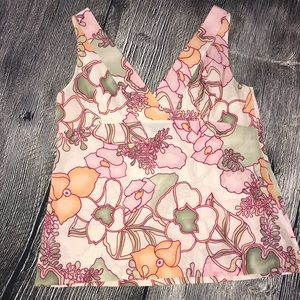 Theory Cammie Silk Blend Floral Tank Top